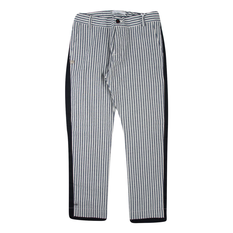 Pantalone per Bambino Retro con Logo Applicato al Bustino 5 Tasche Cesare Paciotti